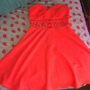 Charlotte Russe Coral Strapless Dress